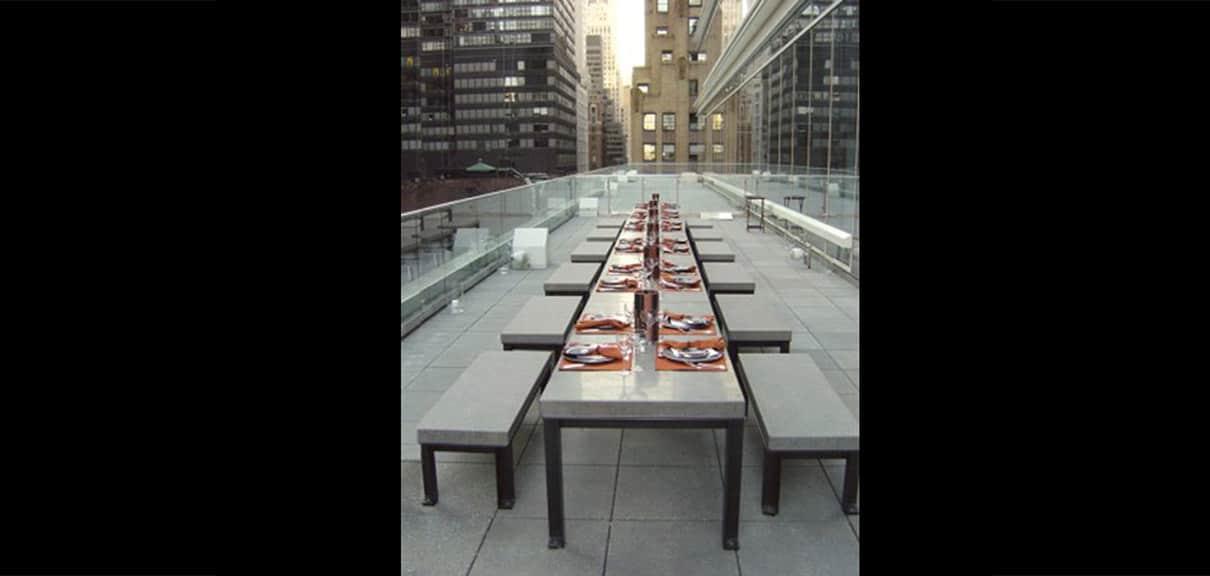 juego mesa banco hormigon