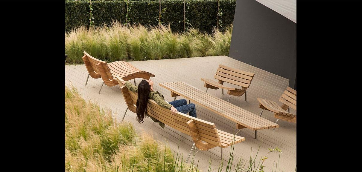 living sillones madera
