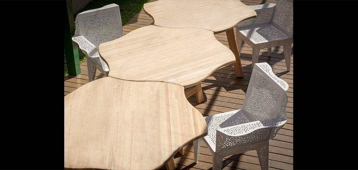 mesas sillas diseño