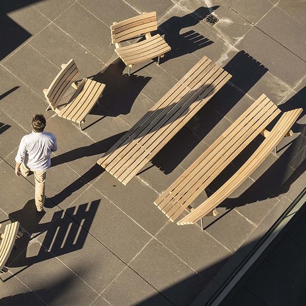 banco madera moderno
