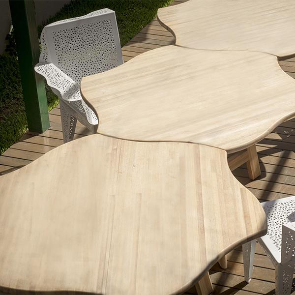 mesa madera flor
